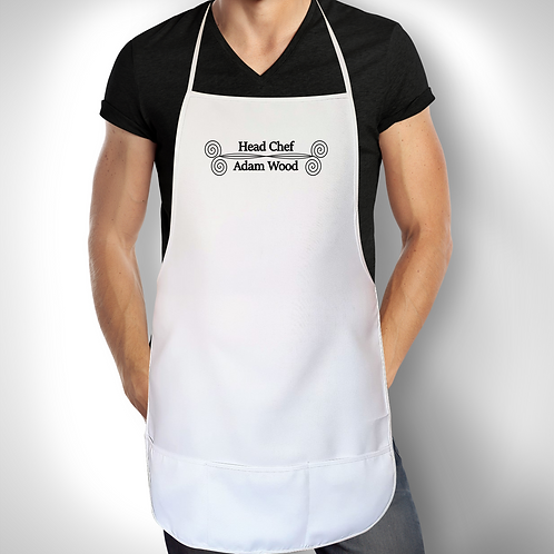 Personalised Apron For Him - Head Chef