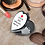 Thumbnail: Personalised Heart Compact Mirror - Heart & Message