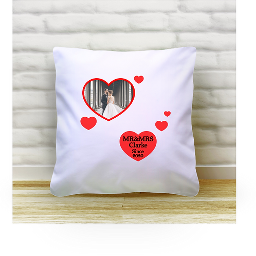 Personalised Cushion Cover - Love Hearts