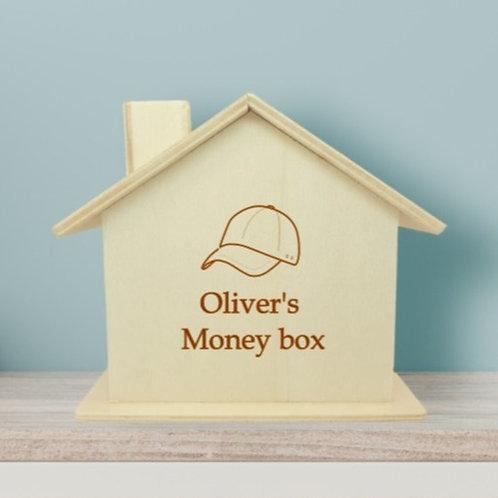 Wooden Money Box - Boy