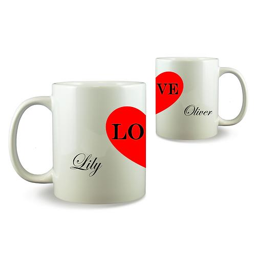 Personalised Mug Set - His And Hers