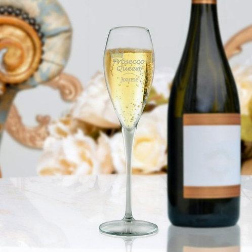 Personalised Premium  Champagne Flute - Prosecco Queen