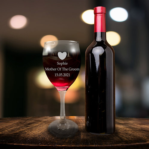 Red Wine glass - Mother of the Groom