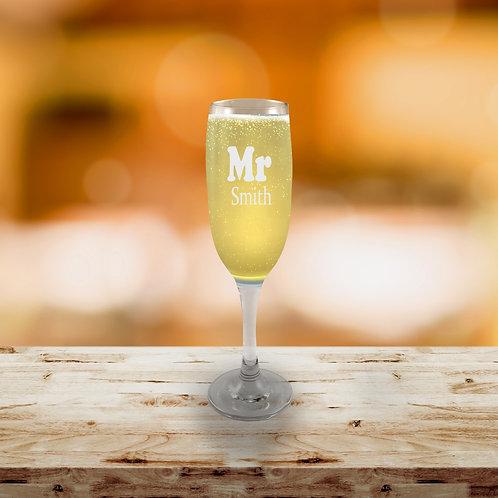 Champagne Flute - Mr