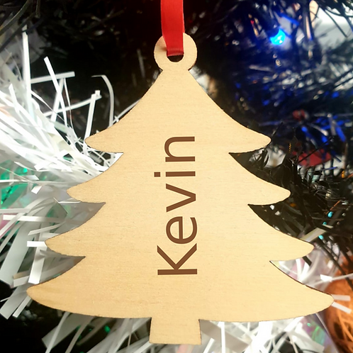 Personalised Wooden Decoration - Tree - Name
