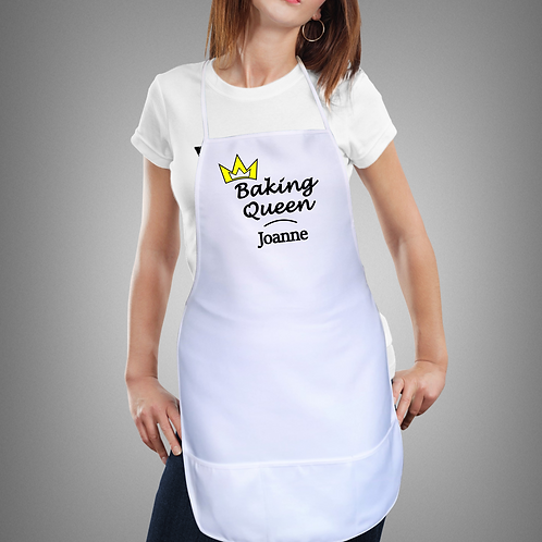 Personalised Apron For Her - Baking Queen