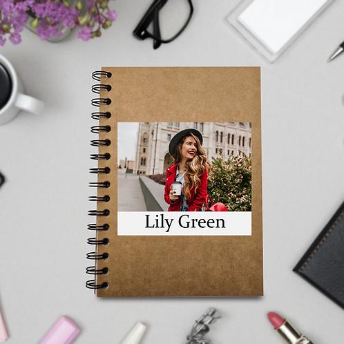 Personalised ECO Notebook - Photo & Name
