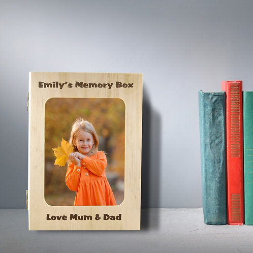Personalised Wooden Photo Box - Memory Book