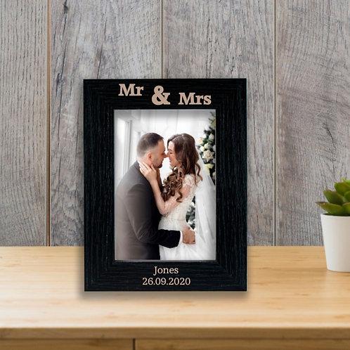 Personalised Wooden Photo Frame - Wedding