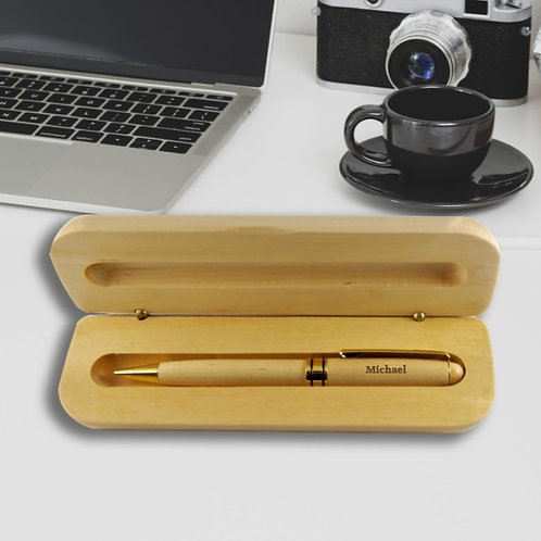 Personalised Wooden Pencil Case and Pen - Graduation