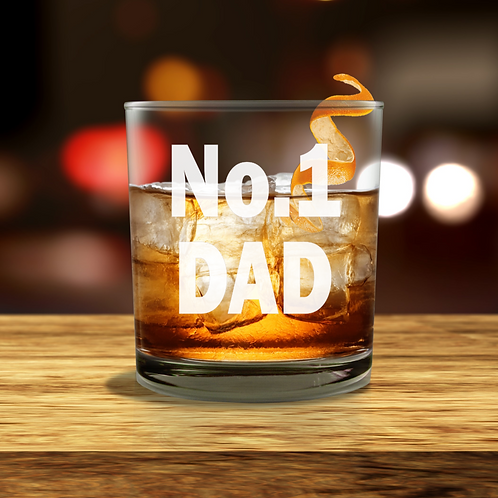 Personalised  Whisky Glass - No.1 DAD
