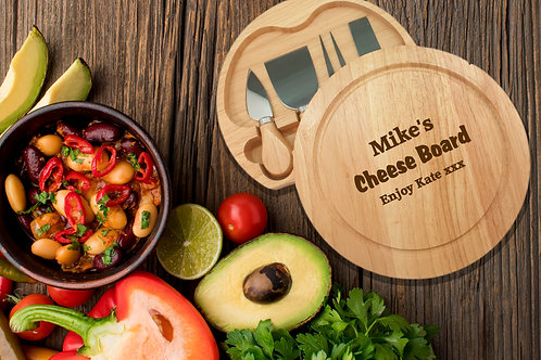 Personalised Round Cheese board - Cheesy