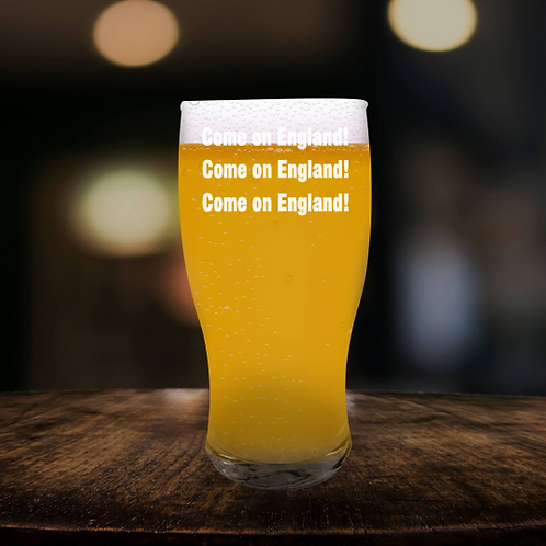 Personalised  Pint Glass - Come on England!