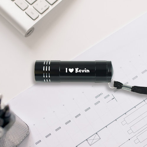 """Personalised Metal Torch """"I Love"""""""