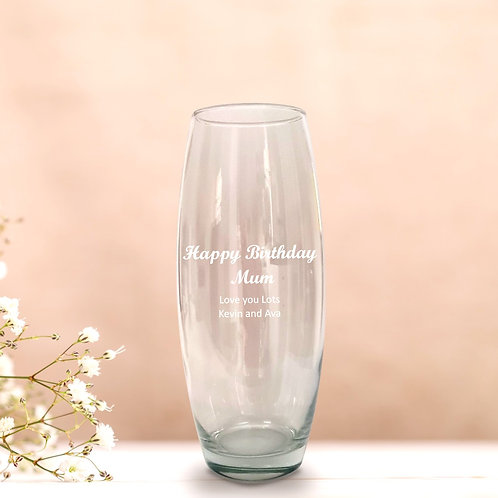 Personalised Bullet Vase - Your Text