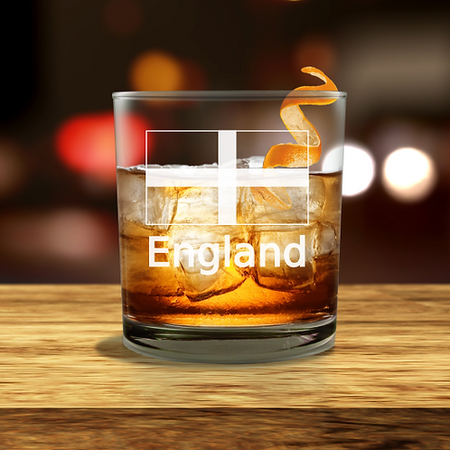 Personalised  Whisky Glass - England