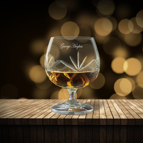 Personalised Crystal Brandy Glass
