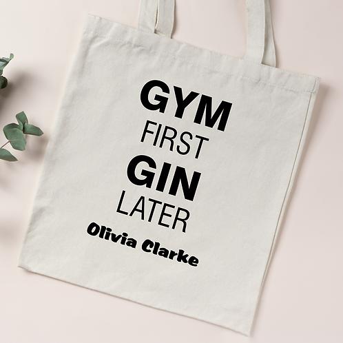 Personalised Organic Cotton Tote Bag - GYM&GIN