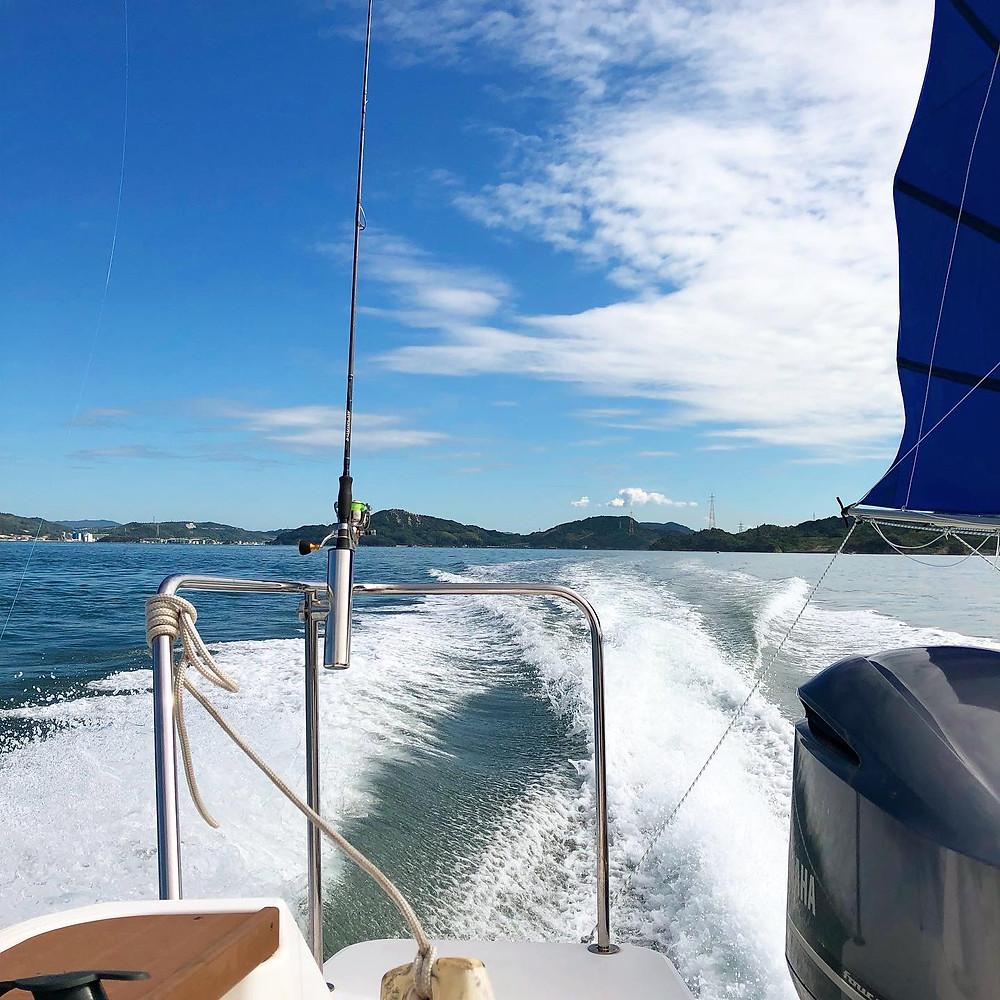 瀬戸内海の景色を見ながらの釣りは格別!