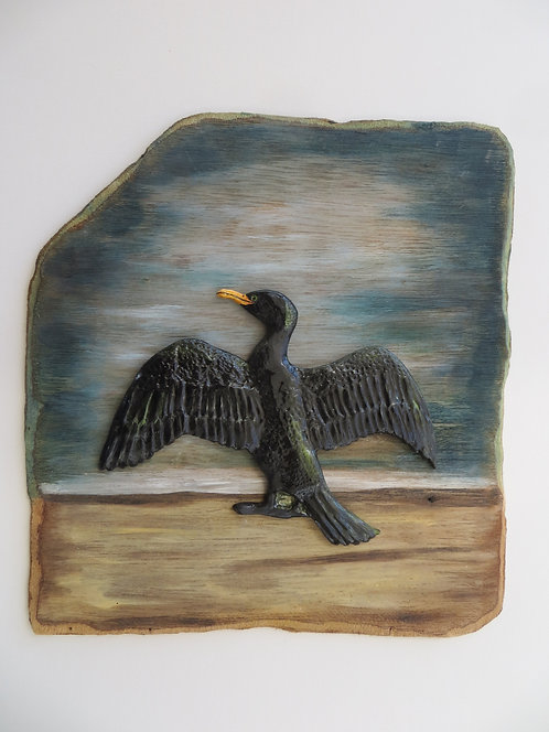 Large Cormorant drying wings