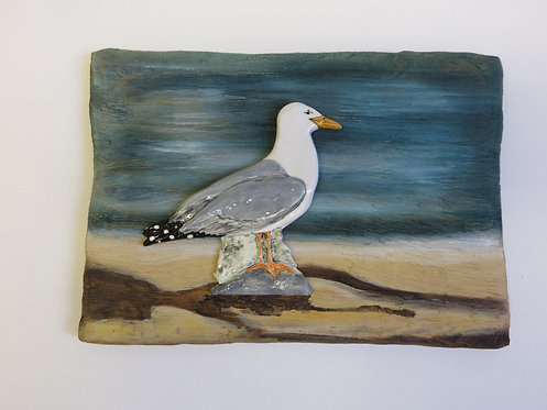 Large Seagull wall plaque