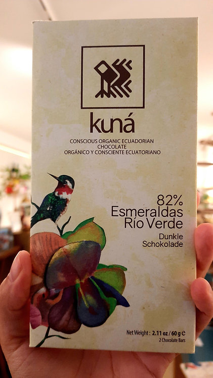 Good dark chocolate 82% Ecuador