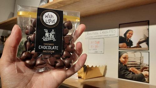 With Love - Milk Chocolate Hearts