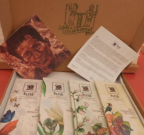 Gift box: premium Ecuador chocolate