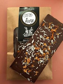 Coconut and mango chocolate bar