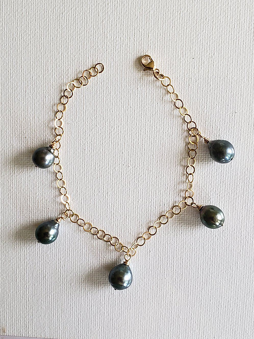 Tahitian Pearls Bracelet size S gold-filled