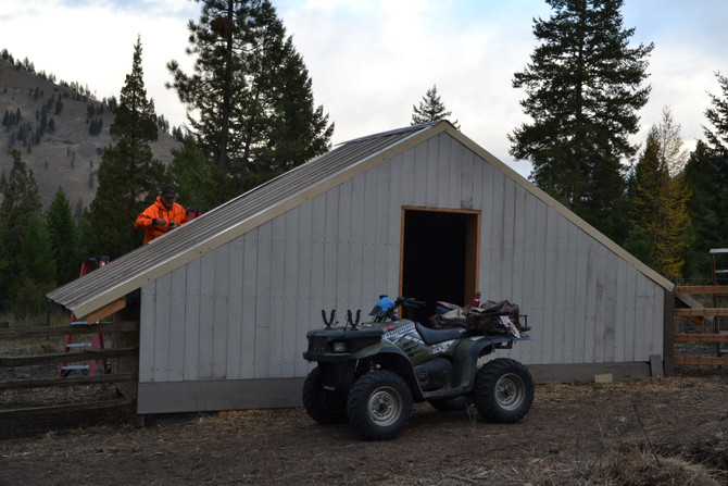 Joe's almost finished with the pig barn