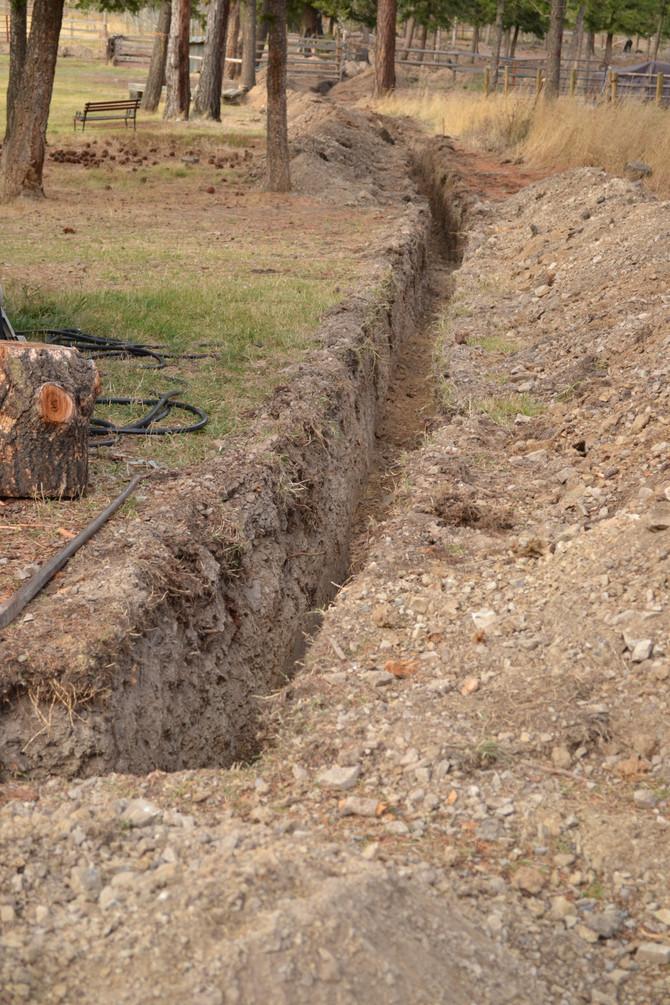 Ditch digging.