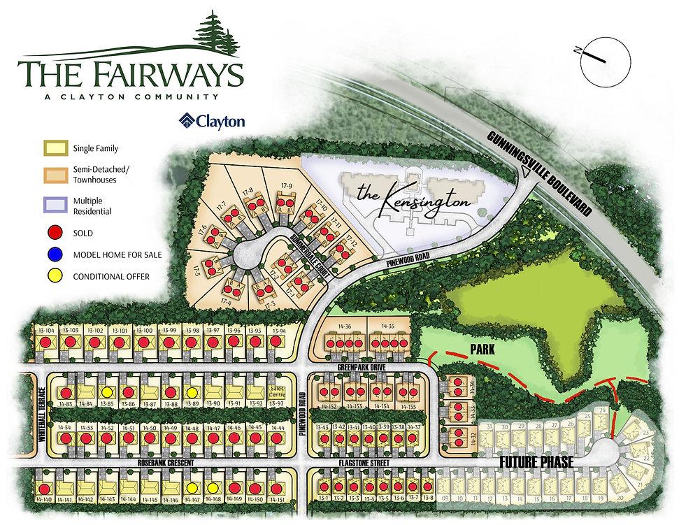 Fairways Colour Plan- with Sales Dots (A