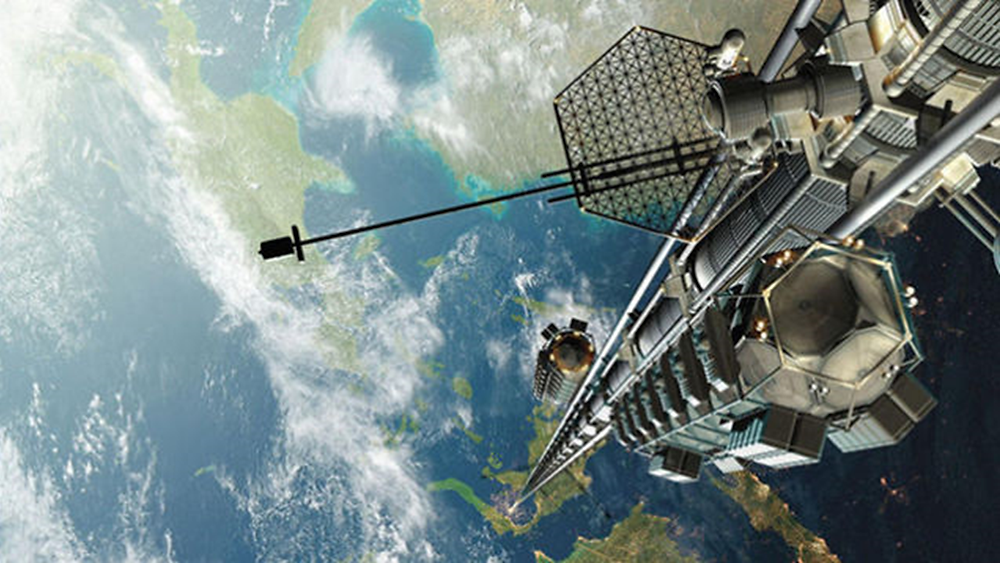 A space elevator would be cool....