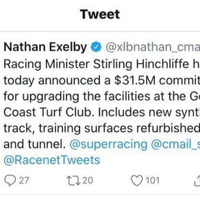 Laura Cheshire response to Qld Racing Minister announcement