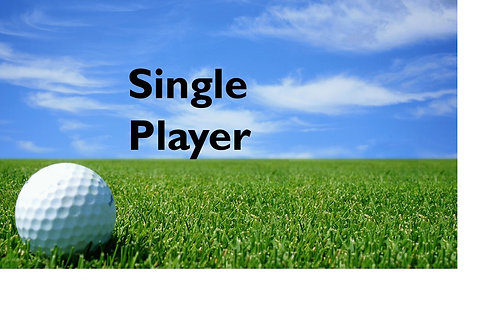 Single Player Golf Tournament Package (paid after 7/16/18)