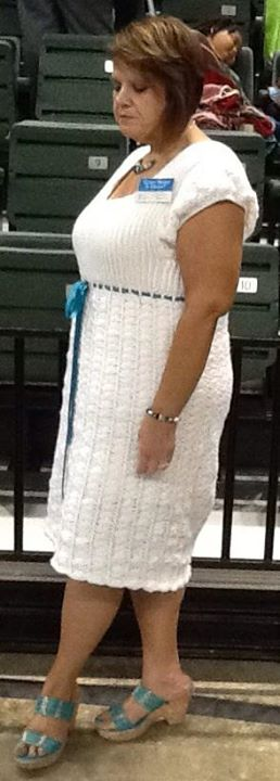 My new crocheted dress. Finally made something for myself. www.offthehookshop