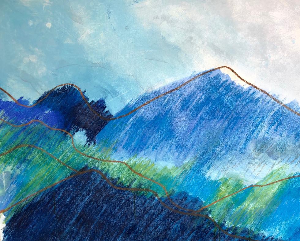 Lipberg -120 x 80 cm -Gouache und Pastel