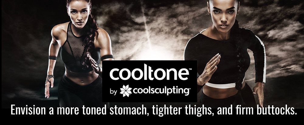 Two athletic models promoting Cooltone Las Vegas