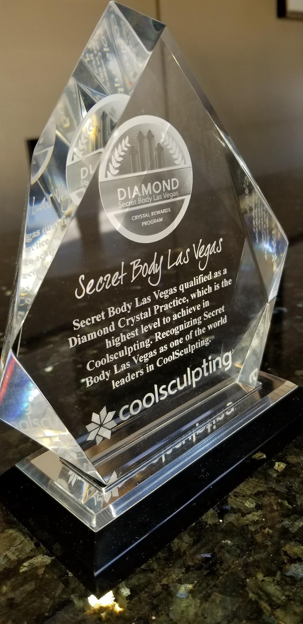 Diamond Coolsculpting Award Secret Body