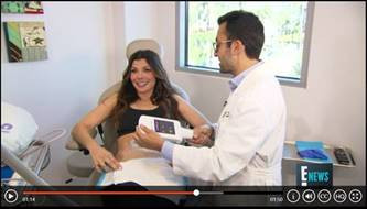 Ali Landry as she undergoes Coolsculpting