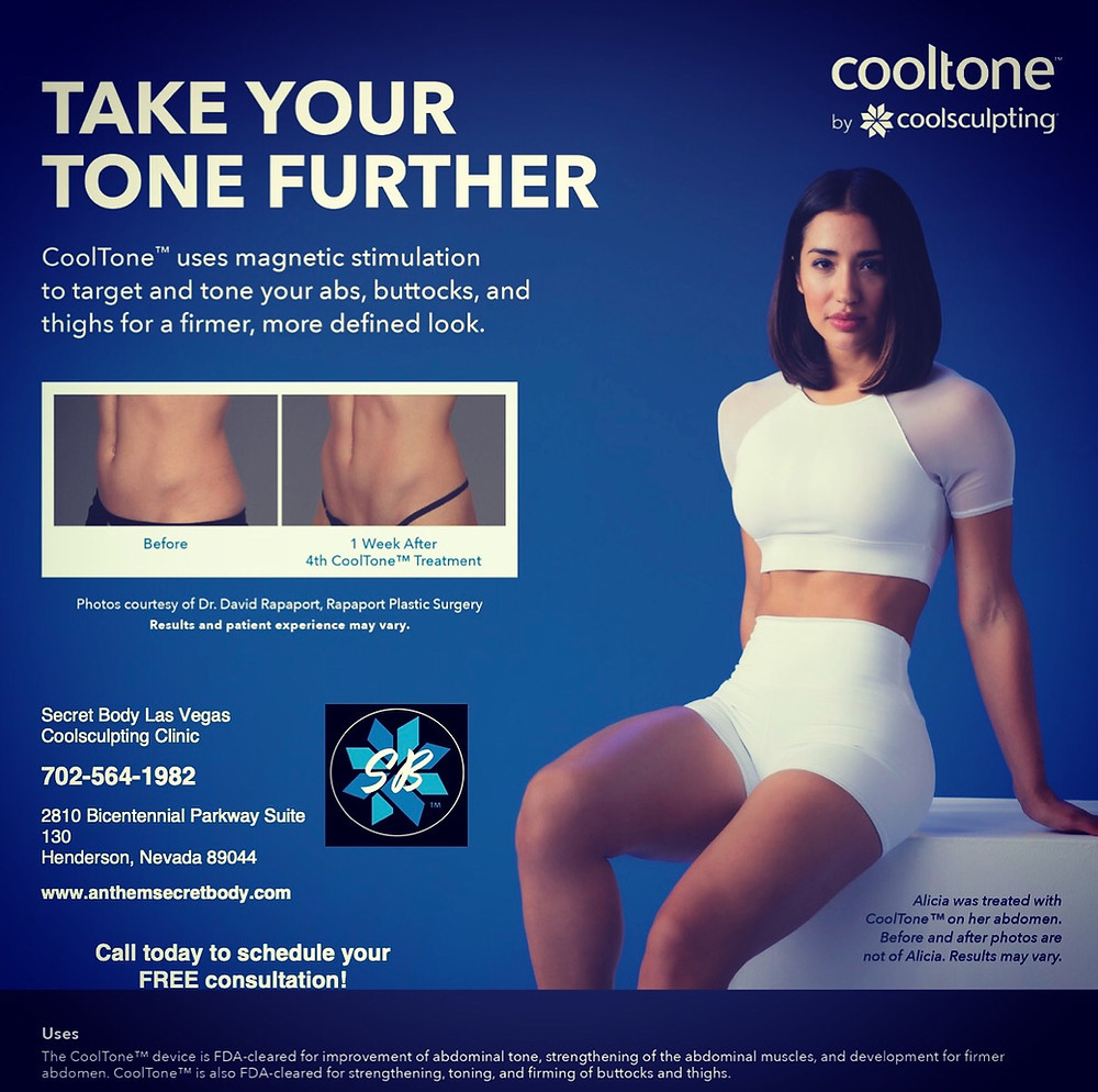 Tone up muscles with CoolTone by Coolsculpting