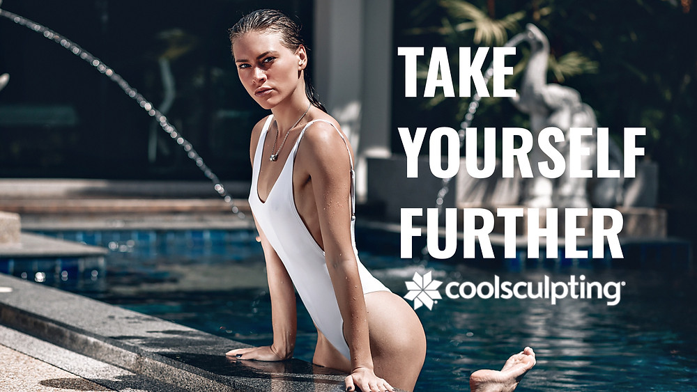 Coolsculpting Las Vegas take Yourself further Promotion Beautiful women getting out of pool