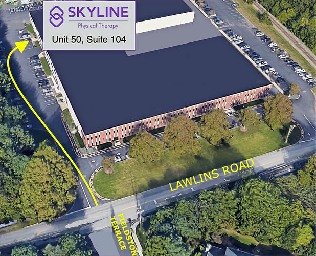 Skyline Physical Therapy Treatments located in Wyckoff, New Jersey and Franklin Lakes, New Jersey, Back Pain Relief, Neck Pain Relief, TMJ Pain Relief, Knee Pain Relief, 681 Lawlins Road Map.