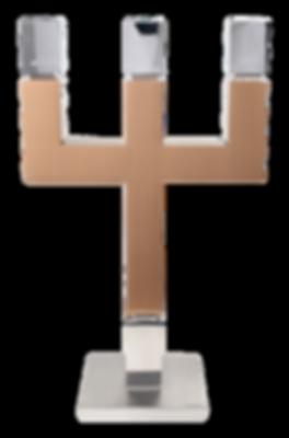 MWE Kerzenständer Edelstahl-Kupfer 3flamig