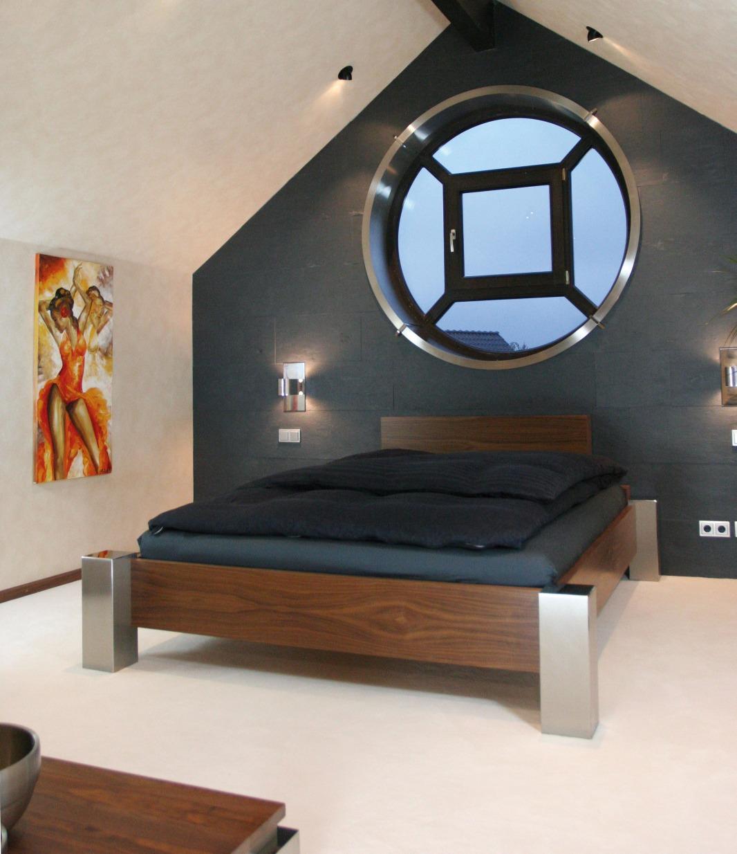 Bett Timeless mit Holz