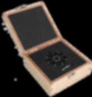 Halskette Spider Edelstahl Holz-Geschenk-Box