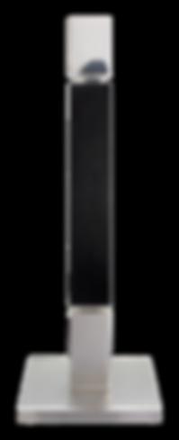 MWE Kerzenständer Edelstahl-Schwarz 1flamig