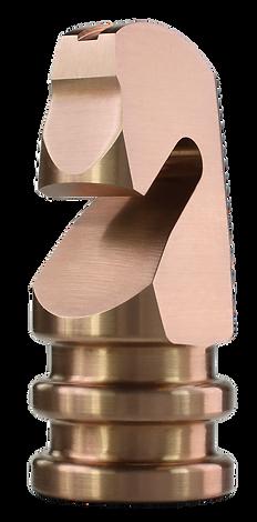 MWE Schachfigur Pferd Edelstahl-Kupfer