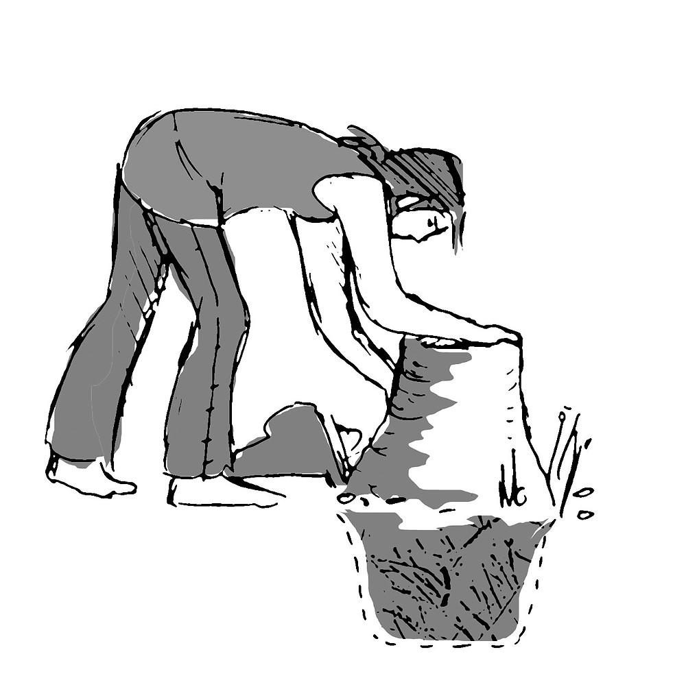 Schlackegrube zur Bearbeitung von Roheisen